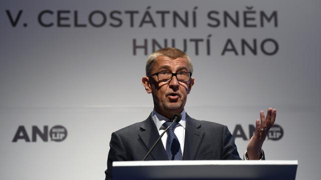 Premiér Andrej Babiš na sněmu hnutí ANO (ČTK)