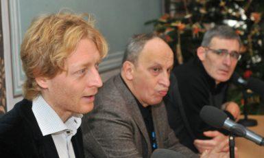 Členové správní rady Nadačního fondu proti korupci Karel Janeček, Jan Kraus a Karel Randák (ČTK)