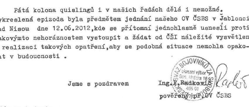 stížnost Františka Radkoviče