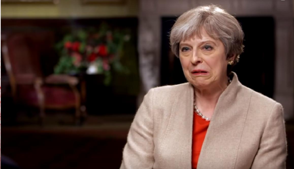 Britská premiérka Theresa Mayová. (youtube/ ODN)