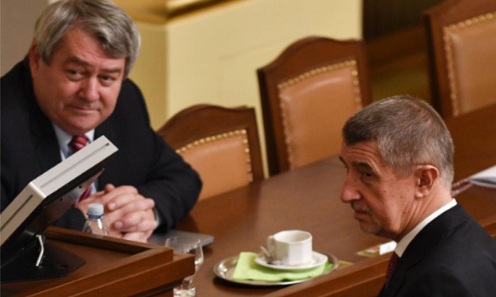 Vojtěch Filip a Andrej Babiš (ČT)