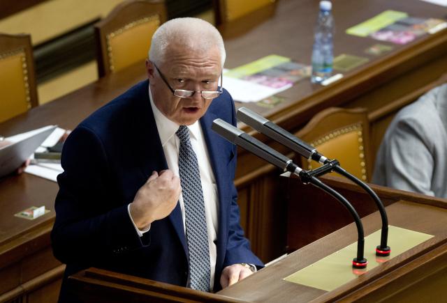První místopředseda hnutí ANO Jaroslav Faltýnek na jednání Poslanecké sněmovny  (ČTK)