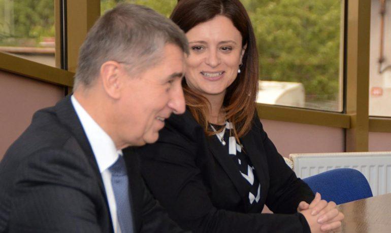Premiér Andrej Babiš a Jaroslava Pokorná Jermanová  (FB Jaroslavy Jermanové)