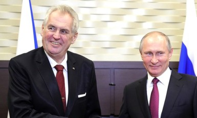Miloš Zeman s Vladimirem Putinem (ČTK)