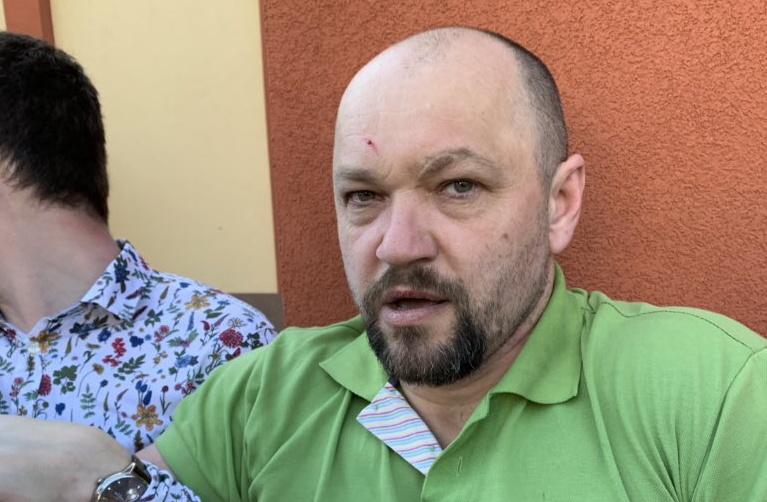 Jeden z dvojice útočníků na Dominika Feriho. (Twitter D. Feriho)