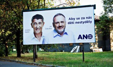 Andrej Babiš a Jiří Zlatuška v kampani ANO v roce 2013  (ČTK)