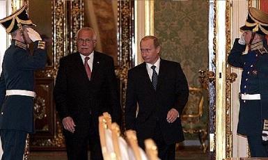Václav Klaus s Vladimirem Putinem v Kremlu  (Kremlin.ru)
