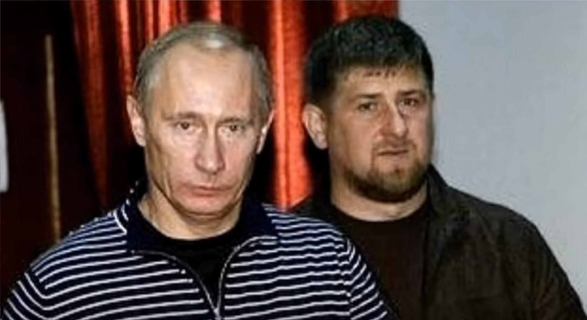 Velký a malý autokrat. V. V. Putin a Ramzan Kadyrov. (youtube)