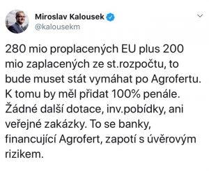 Twitter Miroslava Kalouska