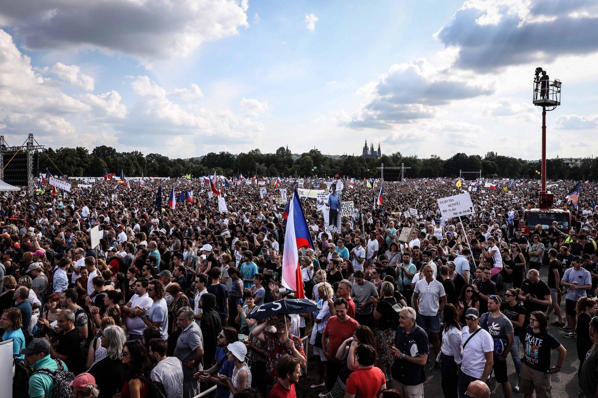 Demonstrace na Letné (Pavel Hofman)