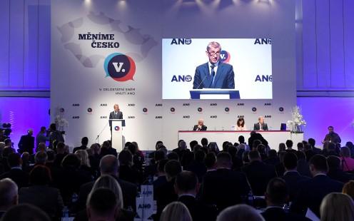 Premiér a předseda hnutí ANO Andrej Babiš na sněmu ANO  (ČTK)