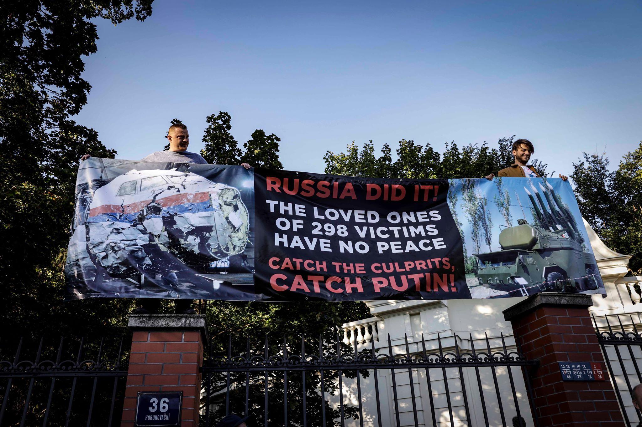 Připomněli tam sestřelení boeingu llinky MH17 (Pavel Hofman)