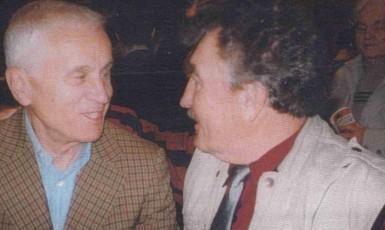 František Kolečkář s Josefem Mašínem při setkání v USA (Post Bellum)