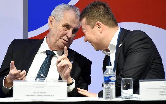 Miloš Zeman a Tomio Okamura (ČTK)