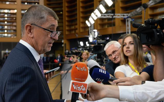 Premiér Andrej Babiš na mimořádném summitu EU v Bruselu (ČTK)