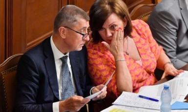 Premiér Andrej Babiš a ministryně financí Alena Schillerová (oba ANO)  (ČTK)