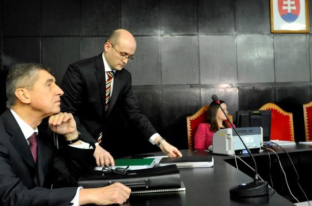 Andrej Babiš u Krajského soudu Bratislava kvůli spolupráci s StB (ČTK)