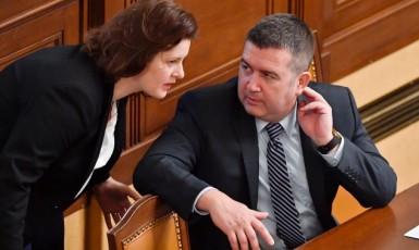 Ministryně práce a sociálních věcí Jana Maláčová a ministr vnitra Jan Hamáček (oba ČSSD) (ČTK)