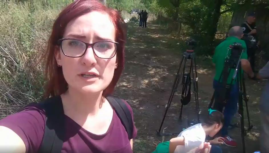 Europoslankyně Markéta Gregorová se na dovolené stala svědkyní další ruské krádeže gruzínského území (Screenshot, FB Markéty Gregorové)