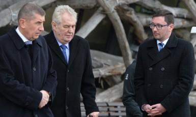Miloš Zeman a Andrej Babiš na Čapím hnízdě. (ČTK)