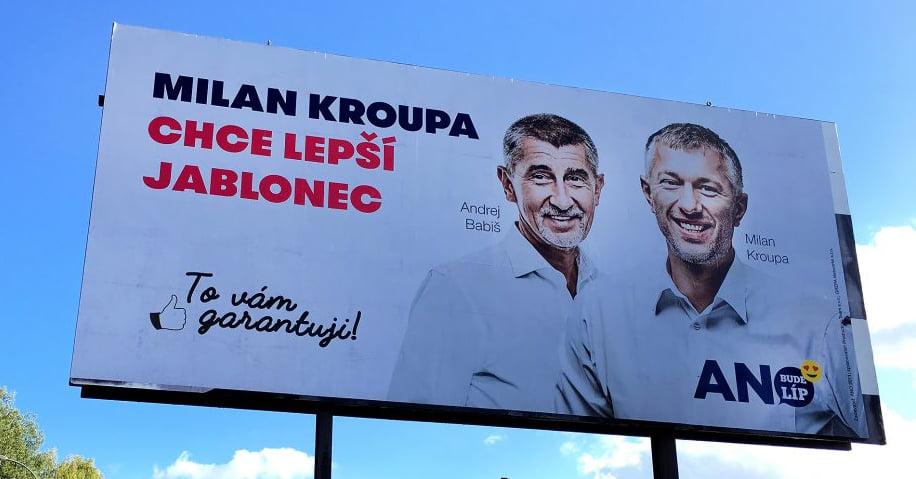 Milan Kroupa a Andrej Babiš (FB Liberecké zprávy)