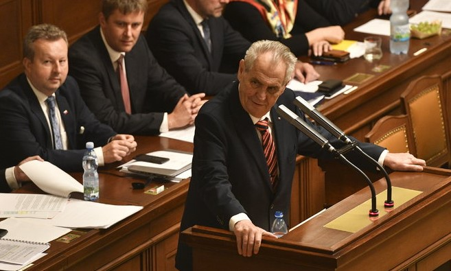 Prezident Miloš Zeman v Poslanecké sněmovně (ČTK)
