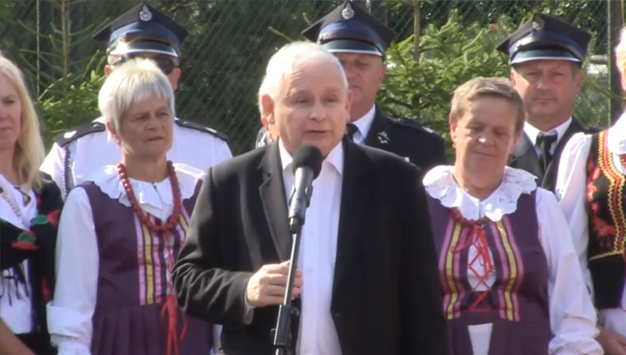 Jarosław Kaczyński, předseda strany Právo a spravedlnost. (youtube)