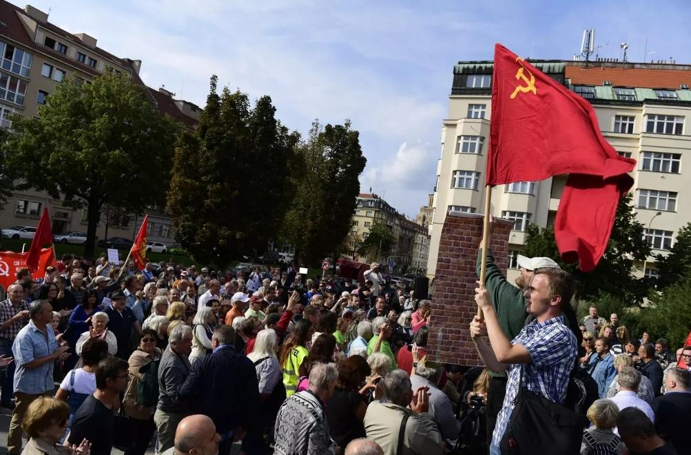 Shromáždění milovníků Ruska u Koněva. (čtk)