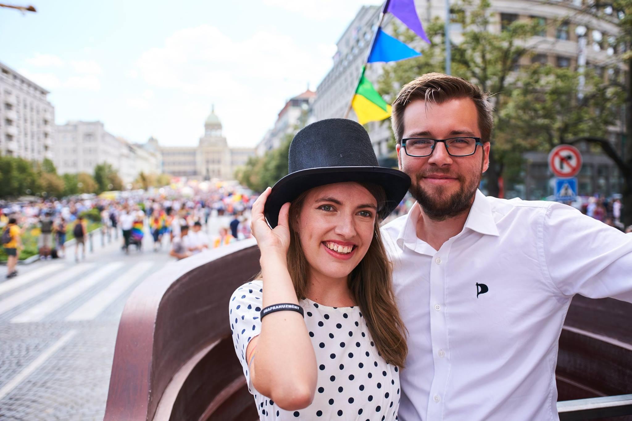 Partneři Michaela Krausová a Jakub Michálek (FB Česká pirátská strana)