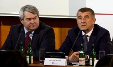 Vojtěch Filip a Andrej Babiš (ČTK)