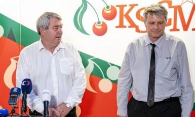 Předseda KSČM Vojtěch Filip a místopředseda strany Stanislav Grospič  (ČTK)
