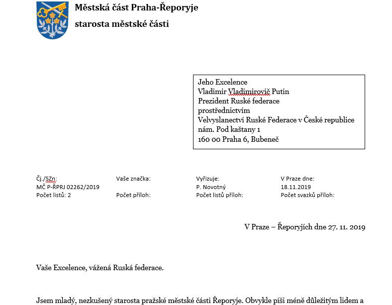 archiv MČ Řeporyje