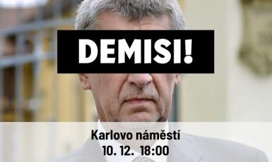 Pozvánka na další demonstraci (FB Milion chvilek pro demokracii)