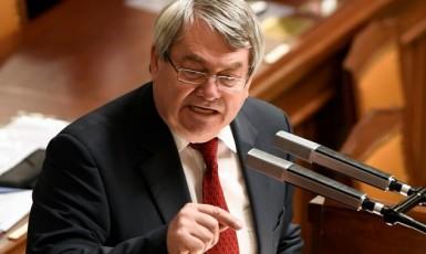 Předseda KSČM Vojtěch Filip v poslanecké sněmovně  (ČTK)