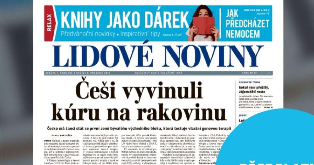 Nesmyslný titulek Lidových novin. Češi prý vyvinuli kúru na rakovinu