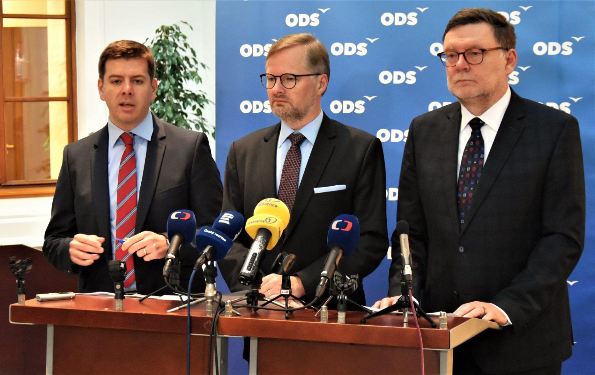 Jan Skopeček, Petr Fiala a Zbyněk Stanjura (Archiv ODS)