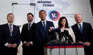 Richard Brabec, Radek Vondráček, Andrej  Babiš, Jaroslava Pokorná Jermanová a  Jaroslav Faltýnek  (ČTK)