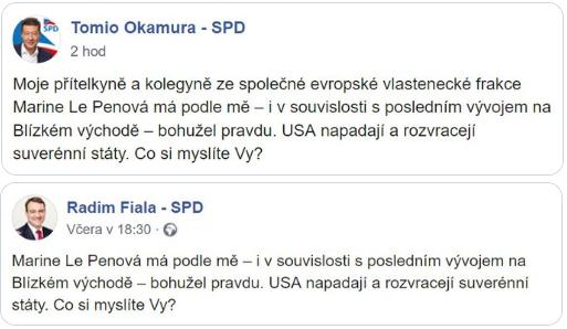 FB dvou různých okamurovců
