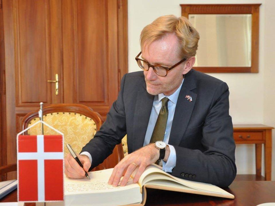 Dánský velvyslanec v České republice Ole Frijs-Madsen  (FB Ole Frijs-Madsen)