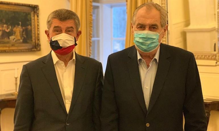 Andrej Babiš a Miloš Zeman (FB AB)