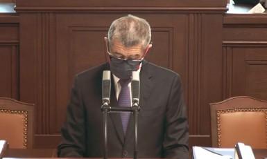 Andrej Babiš ve sněmovně (ČT)