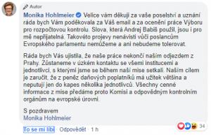 FB Moniky Hohlmeierové