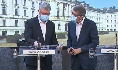 Andrej Babiš a místopředseda vlády Karel Havlíček (ČT)
