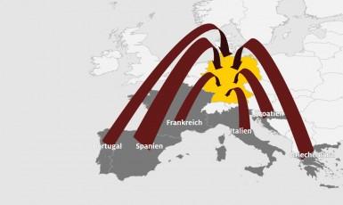 Ilustrační grafika autoklubu ADAC k přehledu pravidel návratu německých občanů do vlasti (ADAC)