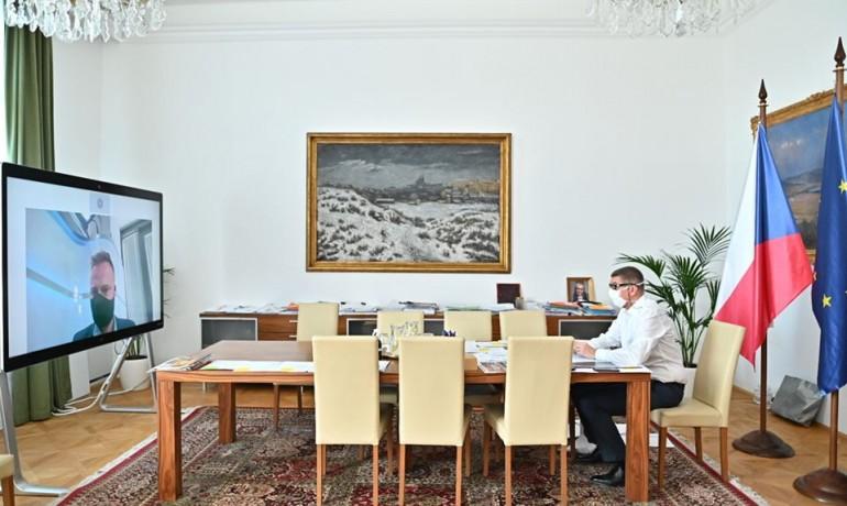 Andrej Babiš během rozhovoru pro Blesk (FB Andrej Babiš)