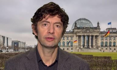 Virolog Christian Drosten z berlínské Charité (screenshot ARD, Tagesschau)