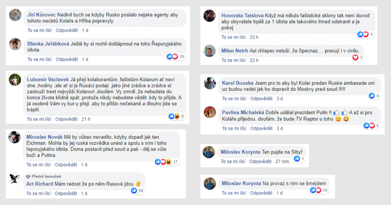Facebookové profily Žarka Jovanoviče a jeho Raptor TV.