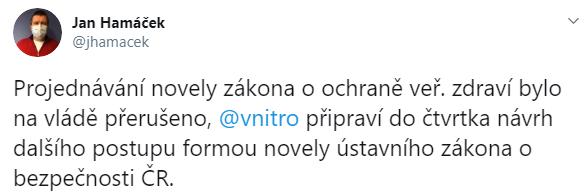 Twitter Jana Hamáčka