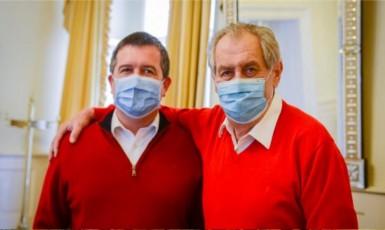 Jan Hamáček a Miloš Zeman (Jiří Ovčáček / Twitter)
