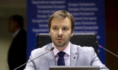 Pirátský místopředseda Evropského parlamentu Marcel Kolaja  (Evropská unie)